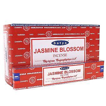 Satya Jasmine Blossom Incense (Box Of 12 Packs)