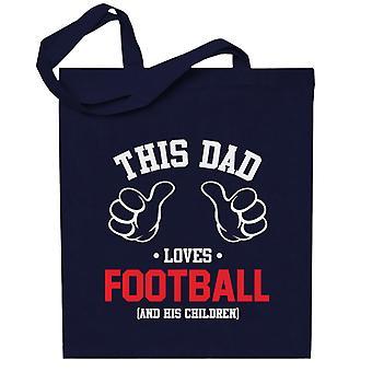 Tämä isä rakastaa jalkapalloa ja hänen lapsensa totebag