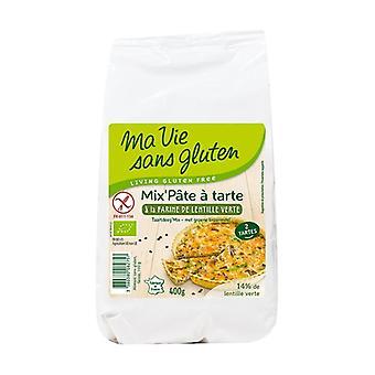 Mezcla-apos; bio 400 g masa de pastel de harina de lenteja verde