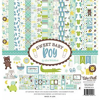 """Echo Park Collection Kit 12""""X12"""" - Sweet Baby Boy"""