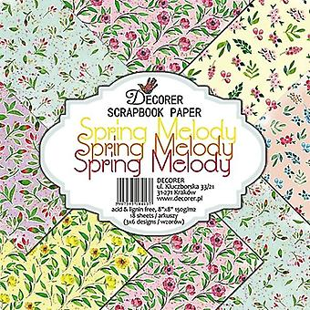 Decorer Spring Melody 8x8 Inch Paper Pack