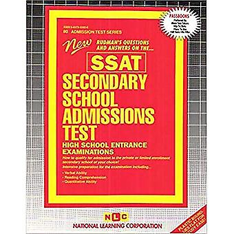 Secondary School Admissions Test High School Entrance Examinations: New Rudman's Questions and Answers on The...SSAT