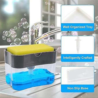 Dispenser Soap Dispenser And Sponge Caddy 13 Ounces Space Innovative Design High-quality Long-lasting