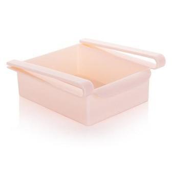 Säädettävä venytettävä jääkaappi järjestäjä - keittiö varastointi hylly hylly haltija muovilaatikko