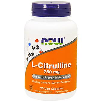 Maintenant Aliments, L-Citrulline, 750 mg, 90 Capsules de légumes