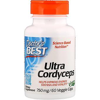 Doctor's Best, Ultra Cordyceps, 750 mg, 60 Bonnets de légumes
