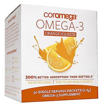 Coromega, Omega-3, Orange Squeeze, 30 Packets, (2.5 g) Each