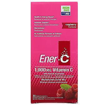 Ener-C, Vitamin C, Multivitamin Drink Mix, Raspberry, 30 Packets, 9.8 oz (277 g)