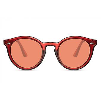 Sunglasses Unisex panto full-edged cat. 3 red/red