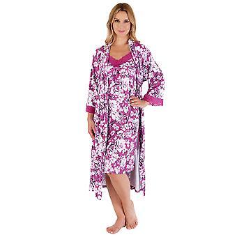 Slenderella Gaspé GL66704 Women's Floral Dressing Gown