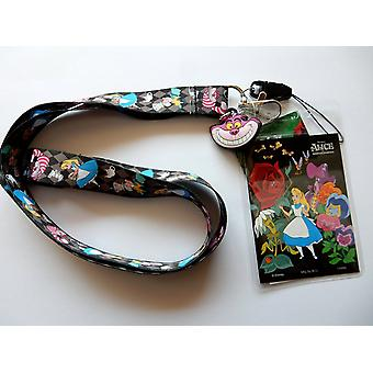 Lanyard - Disney - Alice in the Wonderland Black w/Soft Touch Dangle  25304
