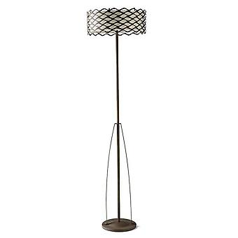 Leds-C4 - 3 Light Floor Lamp Rusty Brown, E27