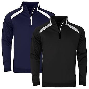 Glenmuir Mens Killin Teflon Water Repellent 1/4 Zip Golf Midlayer Sweater