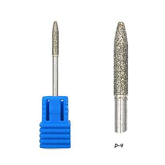Diamond Nail Drill Bit Rotary Burr Manicure Cutters Electric Drill Accessories