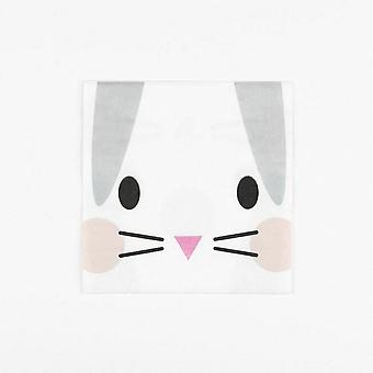 MINI RABBIT Paper Napkins Pack of 20 Easter Christening Party