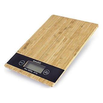 Digital Kitchen Scale Basic Home 5k LCD Bamboo