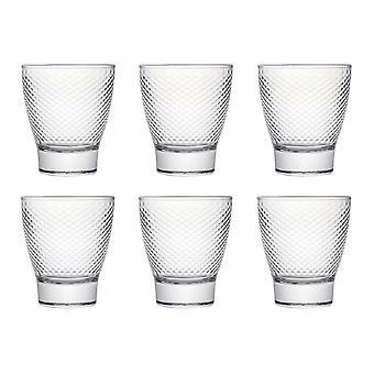 Karo Tumbler Glass, 280ml, Set of 6,