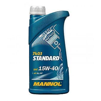 Mannol Standard 1L Universal Mineral Engine Oil 15w40 API CF/SL