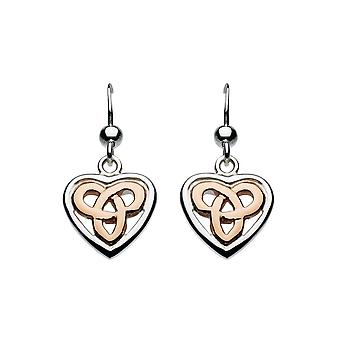 Heritage Aamor Rose Gold Celtic Heart Earrings 62027RG015