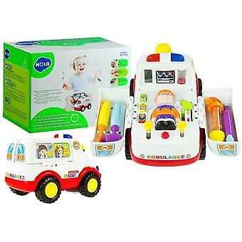 Toy Ambulance with accessories - sound and flashing lights