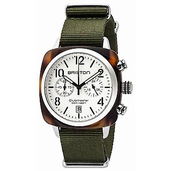 Briston Clubmaster Classic Acetate Chronograph Watch - Green/White/Steel