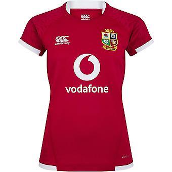 Canterbury British & Irish Lions 2021 Womens Ladies Pro Jersey Shirt Tee Red
