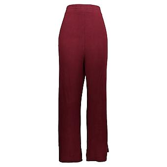 Soft & Cozy Women's Plus Pants Hacci Knit Pull On W/ Pockets Red 627-829