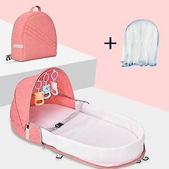 Foldable Baby Bed Travel Bassinet, Functions As A Diaper Bag And Changing