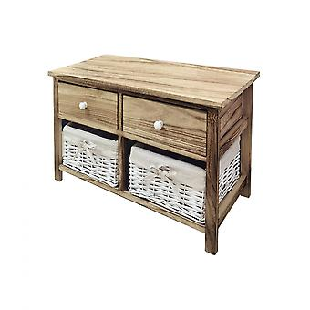 Rebecca Furniture Chest of Drawers 4 Gavetas Retro Wood Light Bathroom 41.5x65x31