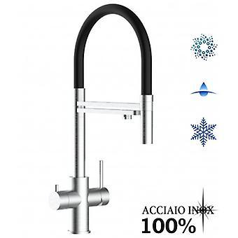 5 sätt Inox Filter Tap idealisk för professionell mousserande, vanligt och kylt vatten system - borstad finish - 346