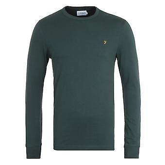 Farah Worthington Long Sleeve Organic Cotton Forest Green T-Shirt