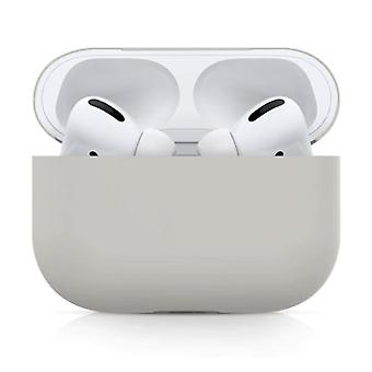 SIFREE Flexible Case for AirPods Pro - Silicone Skin AirPod Case Cover Flexible - Light Gray