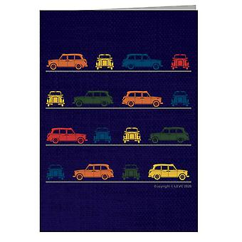London Taxi Company TX4 Angled Colourful Montage Greeting Card