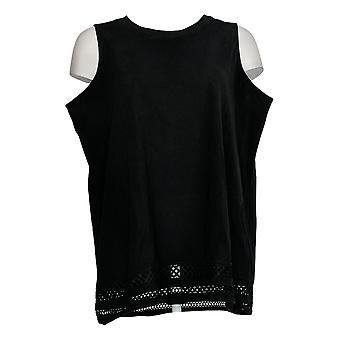 DG2 par Diane Gilman Women-apos;s Top Black Tank Cotton Sleeveless 725-598