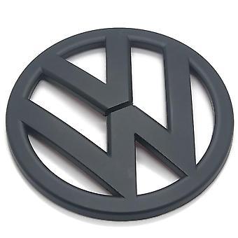 Matt Musta VW Volkswagen Scirocco Front Grill Konepelti Merkki Tunnus Hood 110mm 2009 -2014