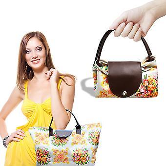 Flo Fashion Light Weight Multipurpose Folding Waterproof Printed Shopping Bag