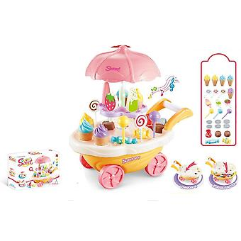 Rotating Ice Cream And Candy Cart-pretend Play