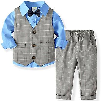 Children's Suits Gentleman Long Sleeve Shirt Vest Pants Kids