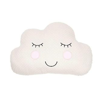 Cloud Face Cushion Beige Childrens Bedroom Décor