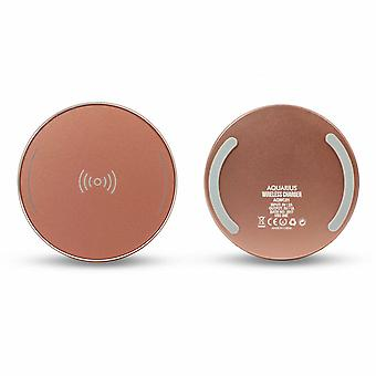 Aquarius Universal Portable Wireless Charger - Rose Gold
