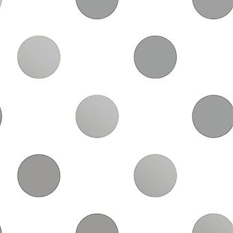 Dotty Silver Wallpaper