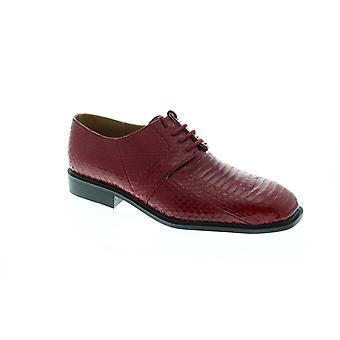 Giorgio Brutini Slaton  Mens Red Leather Lace Up Plain Toe Oxfords Shoes