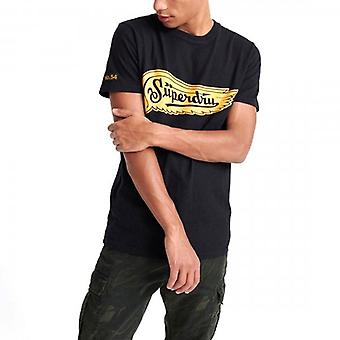 Superdry Merch Store Band T-Shirt Black 02A