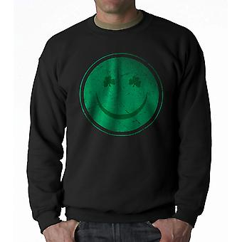 Humor Happy Irish Men's Black Funny T-shirt