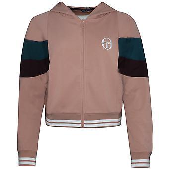 Sergio Tacchini Ilma Hoodie Zip Up Sweatshirt Rosa Kofta 37762 712