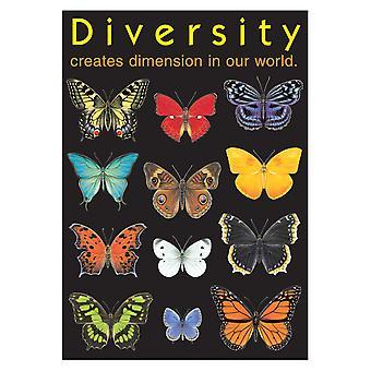 """Vielfalt schafft Dimension Argus Poster, 13.375"""" X 19"""""""