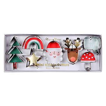 Meri Meri Mini Christmas Cookie Craft Cutters Set of 7 Tree Santa Reindeer