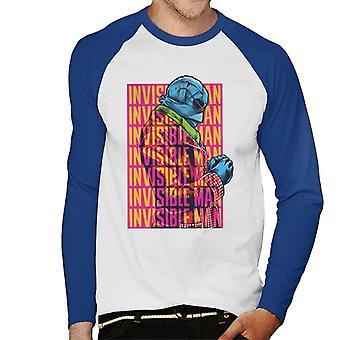 The Invisible Man Silhouette Multi Logo Men's Baseball Long Sleeved T-Shirt