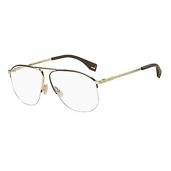 Fendi FF M0107 01Q gafas de oro marrón