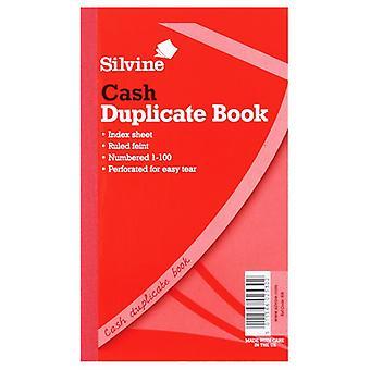 Silvine Feint Duplicate 200 Sheets Cash Book (Pack Of 6)